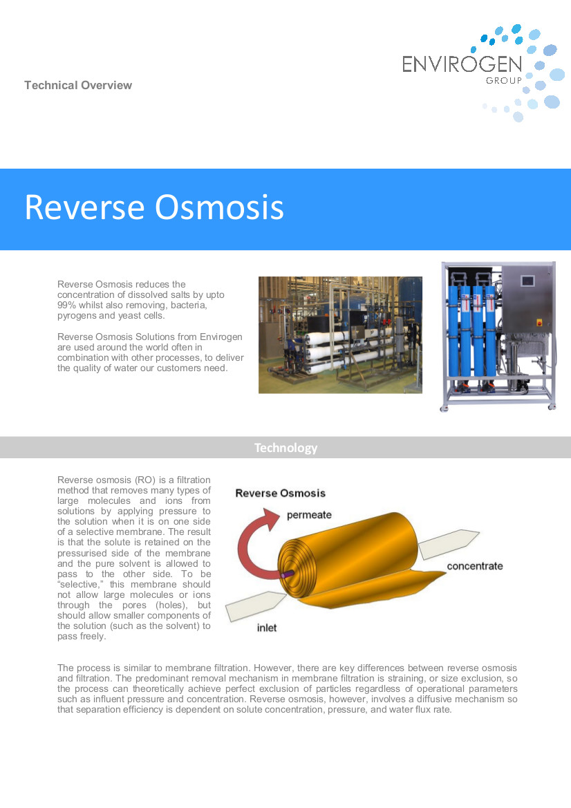 Reverse Osmosis-New