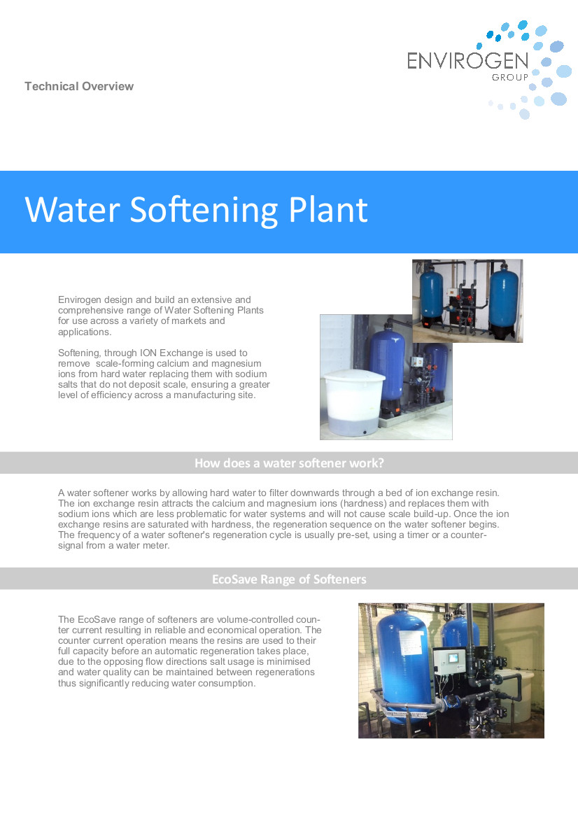 Water Softening Plant - New