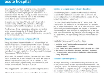 Acute Hospital in Essex Case Study – endoscopy service