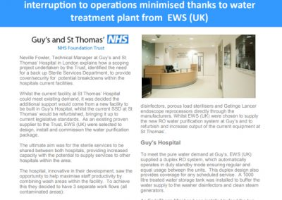 Guys and St Thomas' Hospital London Case Study – sterile services department