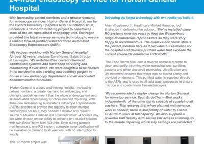 Horton General Hospital Case Study – endoscopy unit