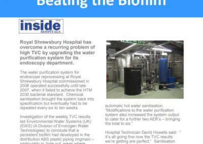 Royal Shrewsbury Hospital Case Study – water purification system