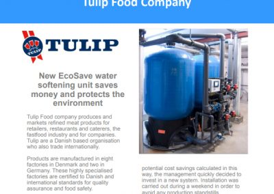 Tulip Food Company Case Study – water softening unit