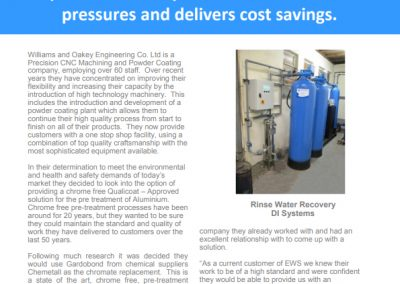 Williams & Oakey Case Study – deionised water plant