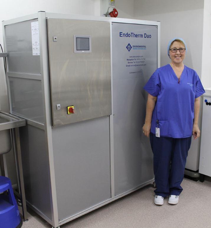 Endoscope decontamination Fairfield Hospital