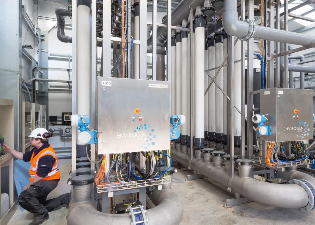 Cross flow membrane filtration