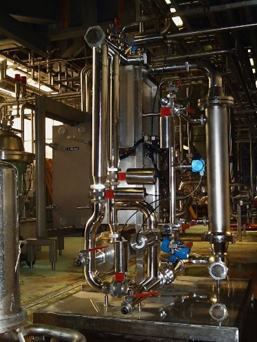 Single-module PureSep MF membrane filtration pilot trial plant