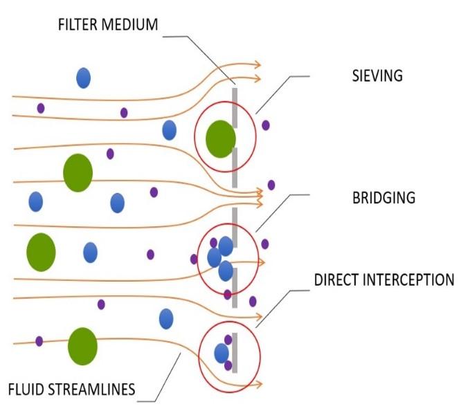 Dead-end filtration diagram
