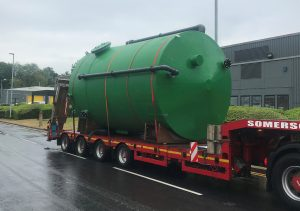 delivery of chlorine dosing tanks