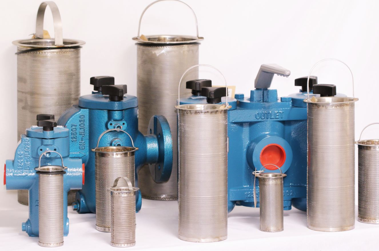 Manual simplex and duplex chamber basket strainers