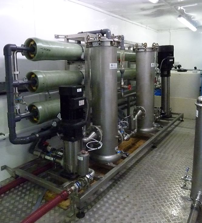 temporary water treatment plant